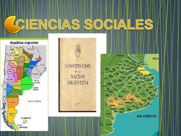 CIENCIAS SOCIALES<br />