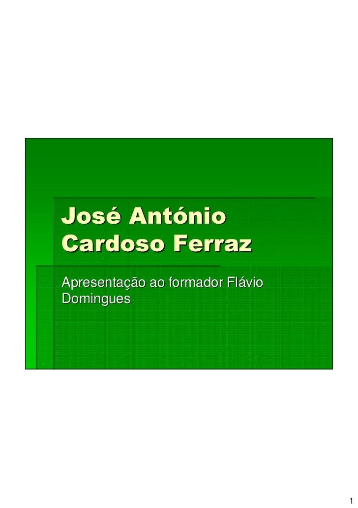 José AntónioCardoso FerrazApresentação ao formador FlávioDomingues                                  1
