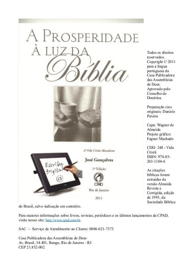 Todos os direitos reservados. Copyright © 2011 para a língua portuguesa da Casa Publicadora das Assembleias de Deus. Aprov...