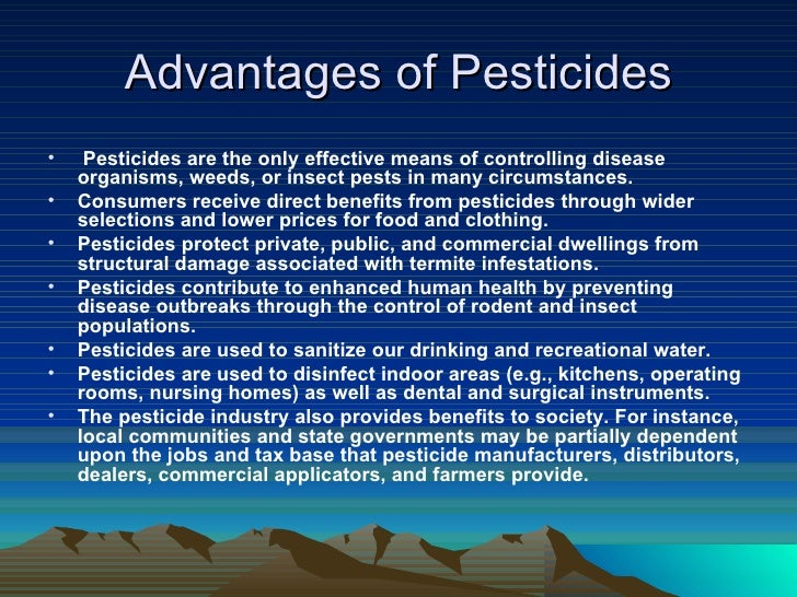 merits and demerits of pesticides