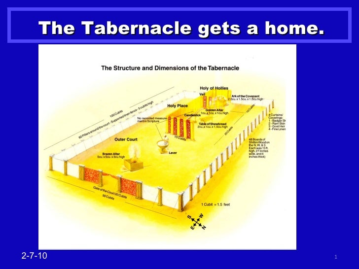 The Tabernacle gets a home. 2-7-10