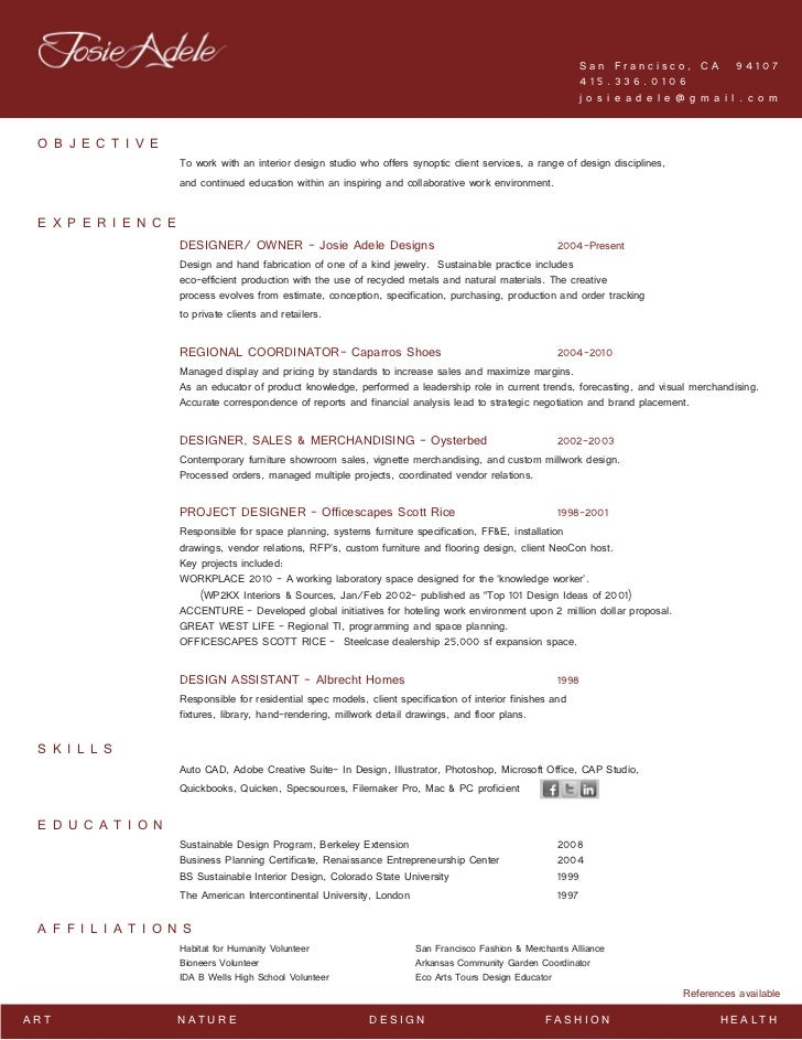 Jewelry Designer Resume
