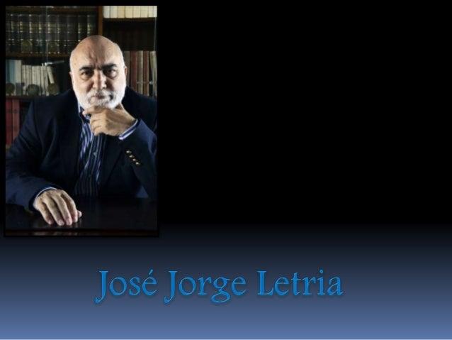 José Jorge Letria é um  autor intenso, profundo e  criador, destacando-se na  área da literatura infanto-juvenil.  Homem d...