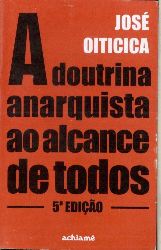 A DOUTRINA ANARQUISTA AO ALCANCE DE TODOS, de José Oiticica (1925)