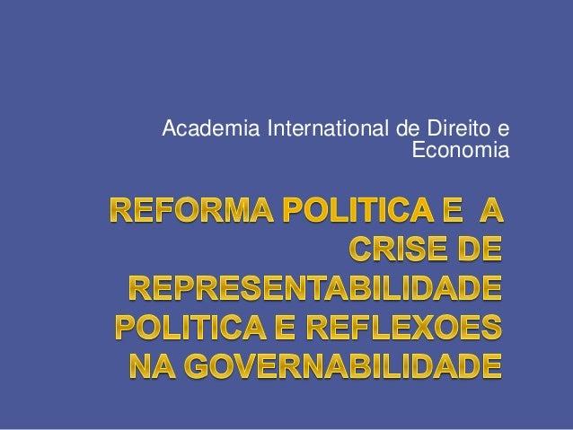 Academia International de Direito e  Economia