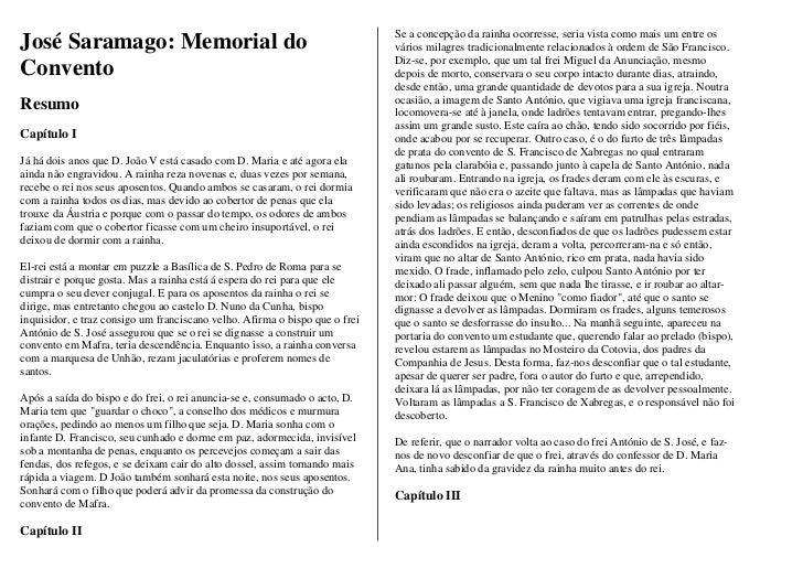 Se a concepção da rainha ocorresse, seria vista como mais um entre osJosé Saramago: Memorial do                           ...