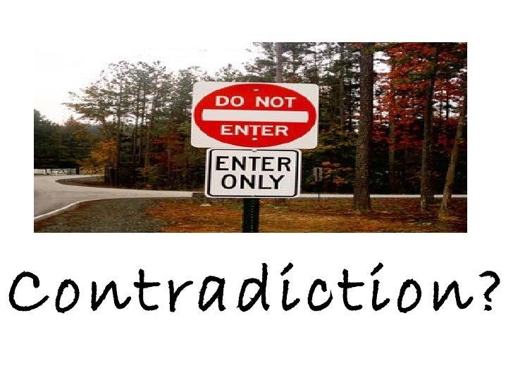 Contradiction?