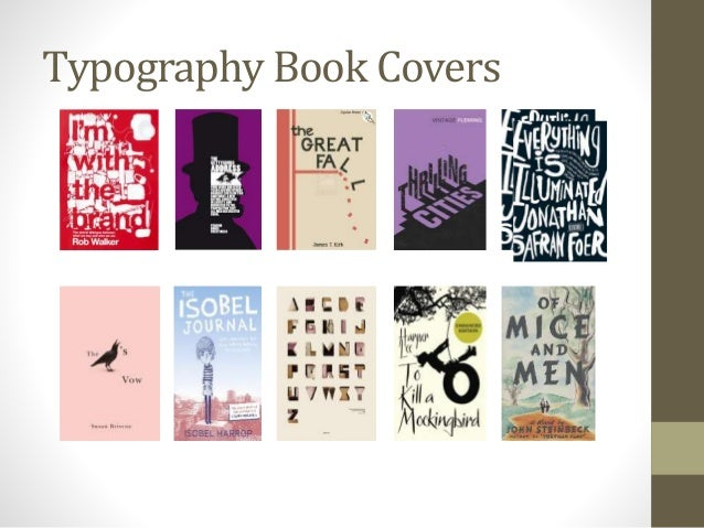 Typographic Book Cover Notes : Book covers and font research