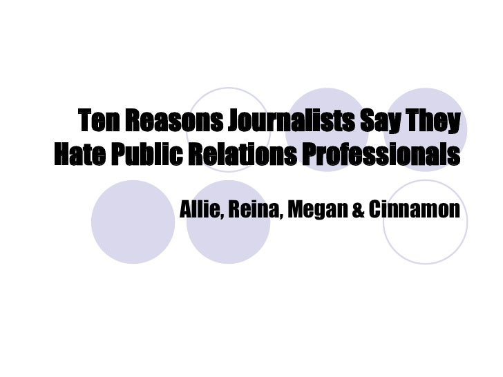 relationship between journalism and public relations