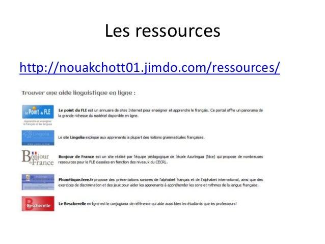 Les ressources http://nouakchott01.jimdo.com/ressources/