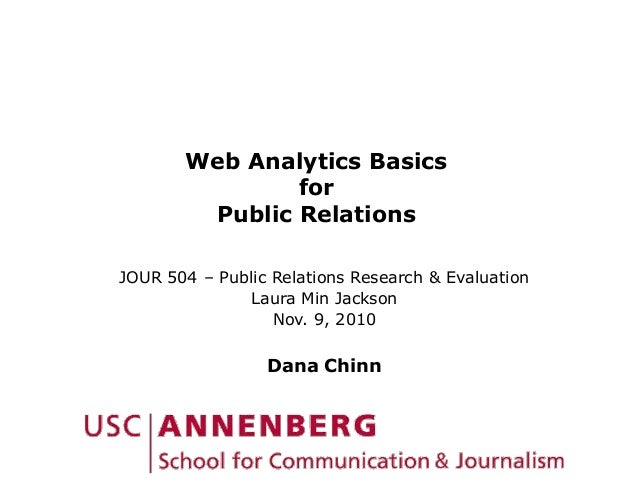 Web Analytics Basics for Public Relations JOUR 504 – Public Relations Research & Evaluation Laura Min Jackson Nov. 9, 2010...