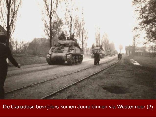 De Canadese bevrijders komen Joure binnen via Westermeer (2)