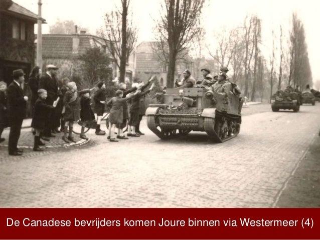 De Canadese bevrijders komen Joure binnen via Westermeer (4)