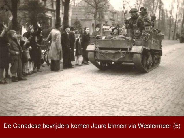 De Canadese bevrijders komen Joure binnen via Westermeer (5)