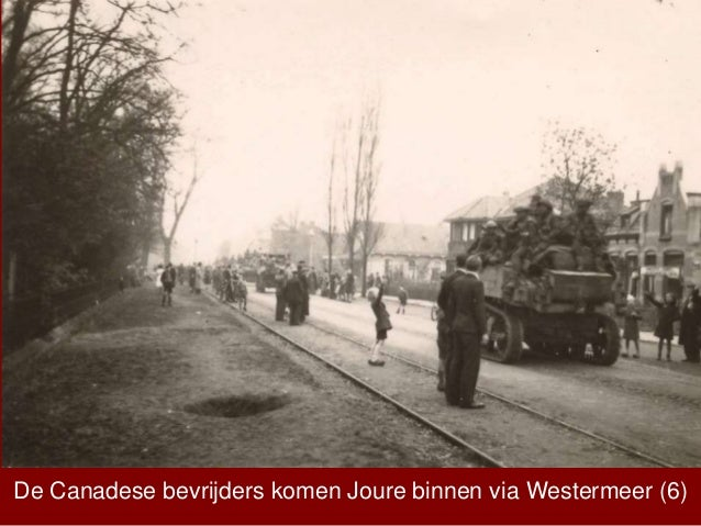 De Canadese bevrijders komen Joure binnen via Westermeer (6)