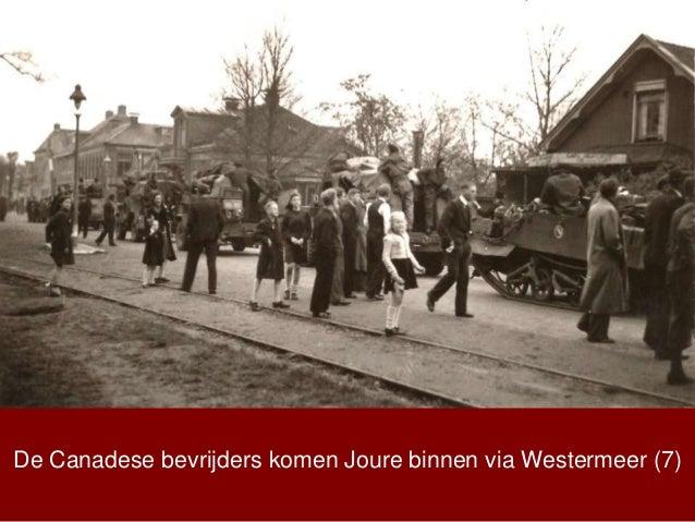 De Canadese bevrijders komen Joure binnen via Westermeer (7)