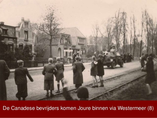 De Canadese bevrijders komen Joure binnen via Westermeer (8)