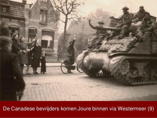 De Canadese bevrijders komen Joure binnen via Westermeer (9)