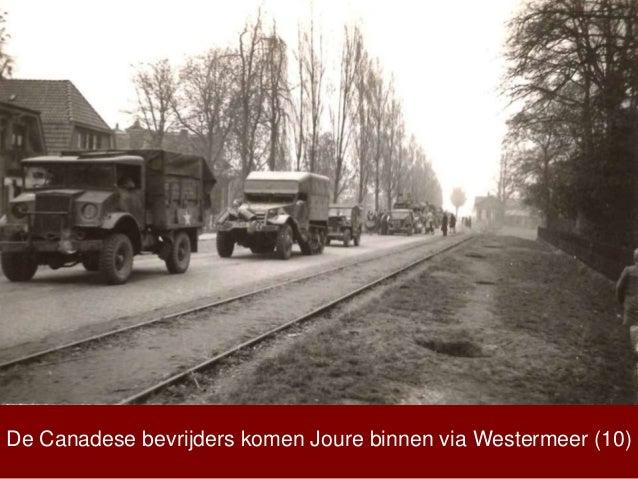 De Canadese bevrijders komen Joure binnen via Westermeer (10)