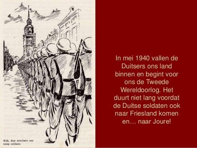 In mei 1940 vallen de Duitsers ons land binnen en begint voor ons de Tweede Wereldoorlog. Het duurt niet lang voordat de D...