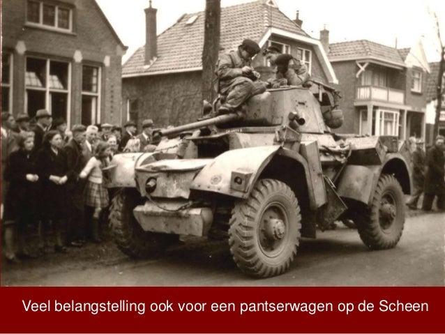 Veel belangstelling ook voor een pantserwagen op de Scheen