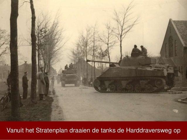 Vanuit het Stratenplan draaien de tanks de Harddraversweg op