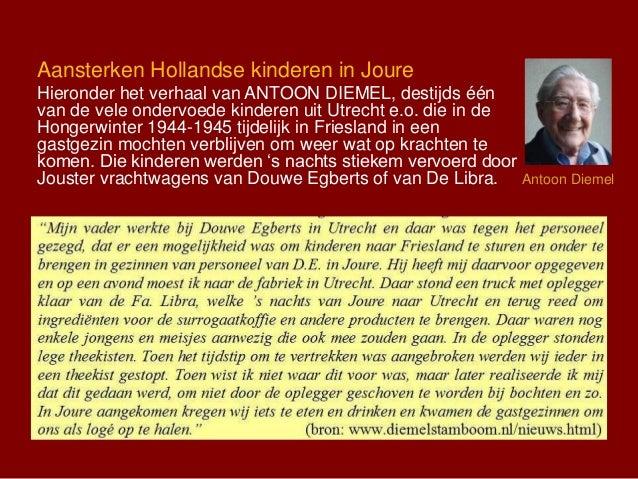Aansterken Hollandse kinderen in Joure Hieronder het verhaal van ANTOON DIEMEL, destijds één van de vele ondervoede kinder...