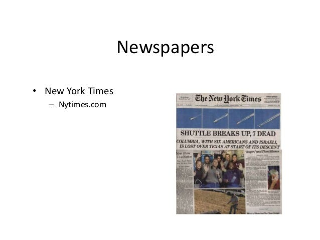 Newspapers  • New York Times  – Nytimes.com
