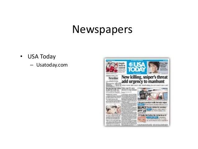 Newspapers  • USA Today  – Usatoday.com
