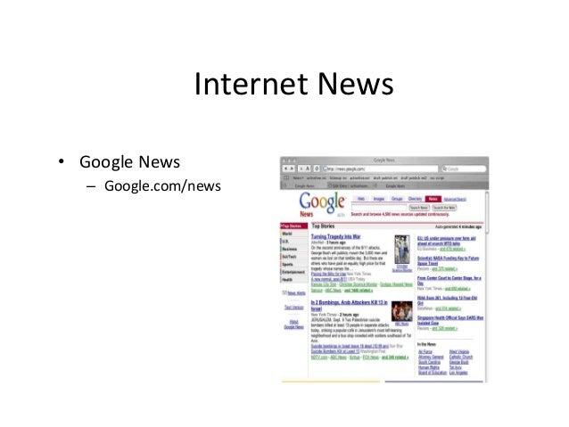 Internet News  • Google News  – Google.com/news