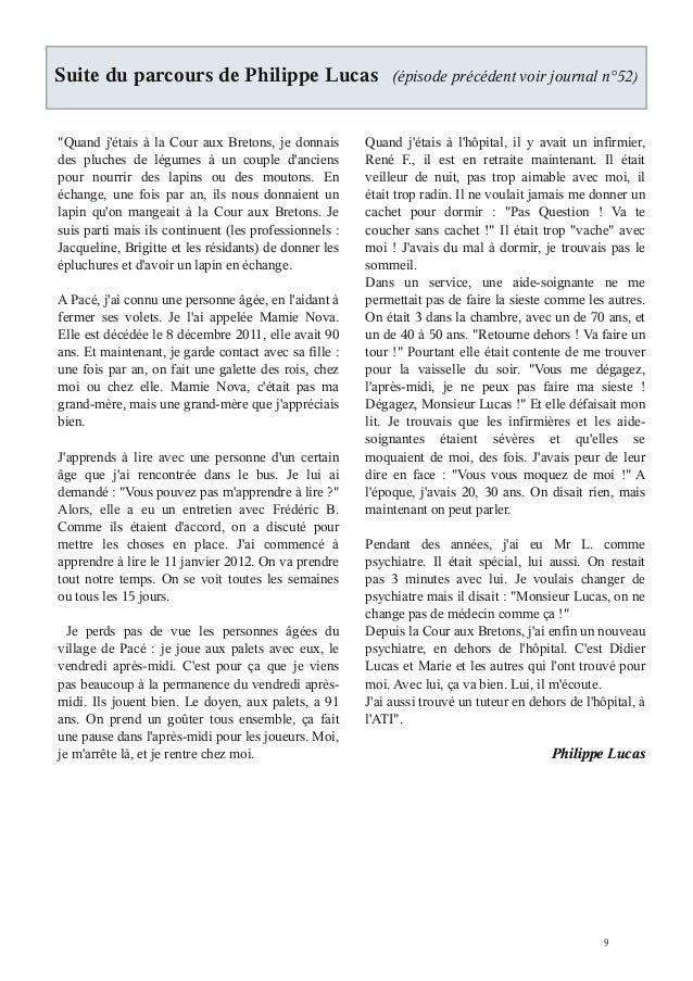 """Suite du parcours de Philippe Lucas                         (épisode précédent voir journal n°52)""""Quand jétais à la Cour a..."""