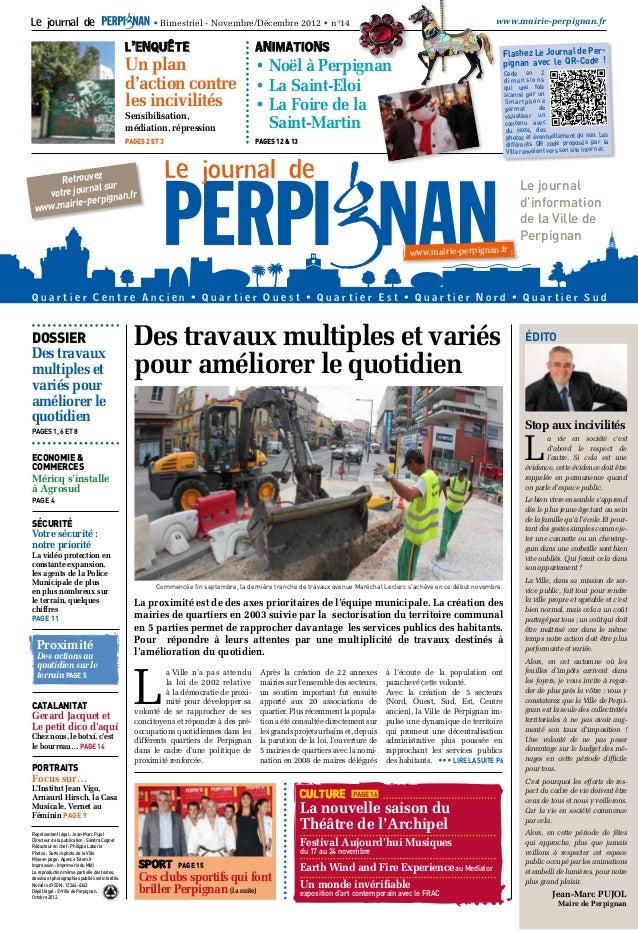 Le journal de                                             • Bimestriel - Novembre/Décembre 2012 • n°14                    ...