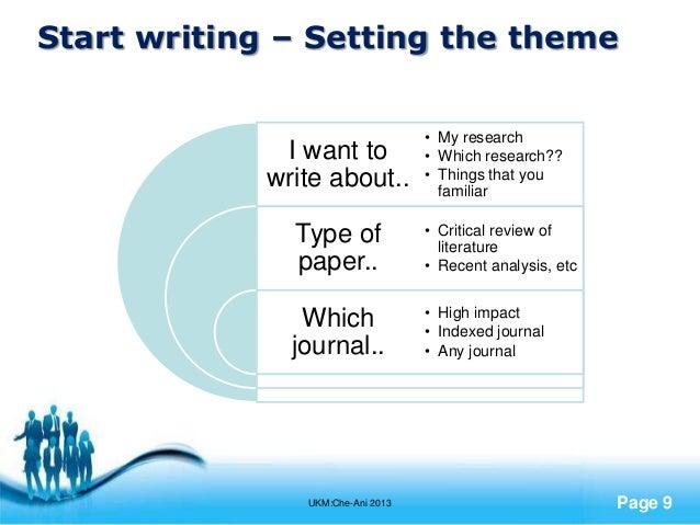 Premise Indicator Words: Journal Writing: Lets Start