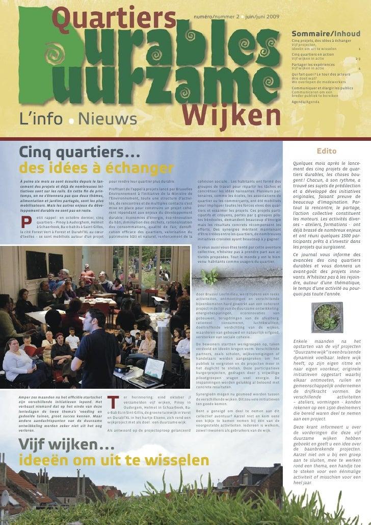 numéro/nummer 2 • juin/juni 2009                                                                                          ...