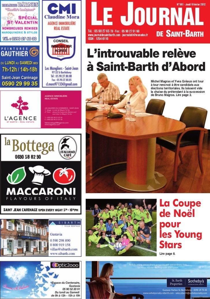 LE JOURNAL                                                                           N°961 - Jeudi 9 février 2012Tél. : 05...
