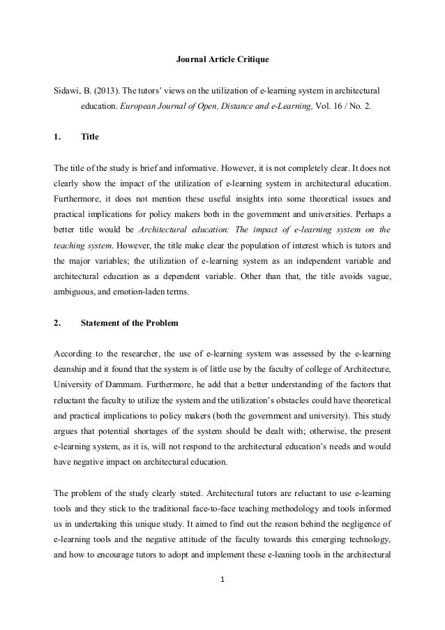 Critique An Article Essay Of Science - Essay for you
