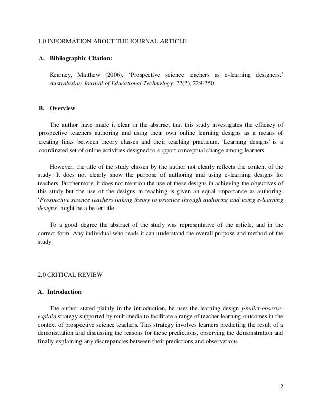 critical review of three scholarly journal articles essay Journal article critical review paper how to write critical reviews of journal articles critical review essay your paper should be three double spaced.