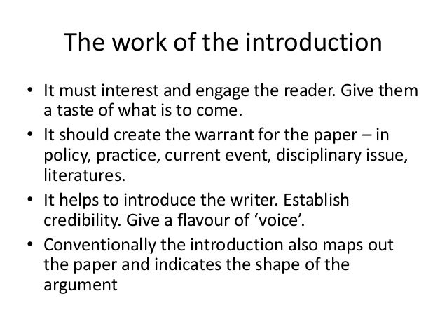 Journal Article Introductions