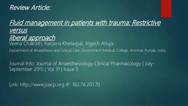 Medical Patients Vs Trauma
