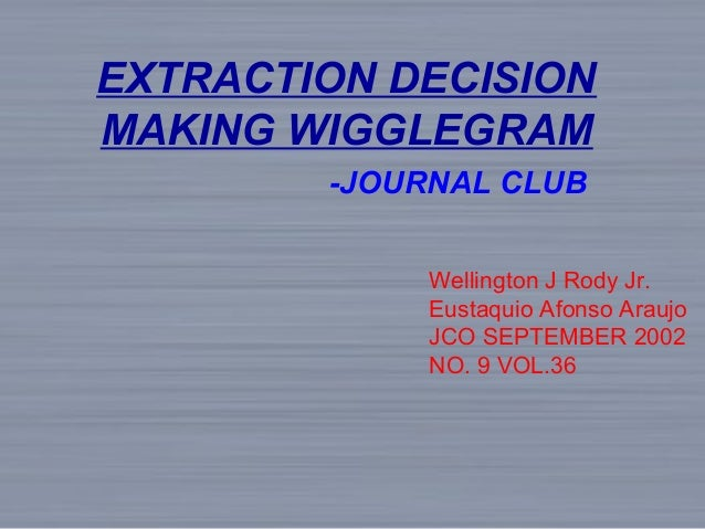 Journal club Extraction decision making / fixed orthodontic courses/ …