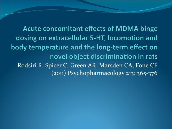 Rodsiri R, Spicer C, Green AR, Marsden CA, Fone CF (2011) Psychopharmacology 213: 365-376
