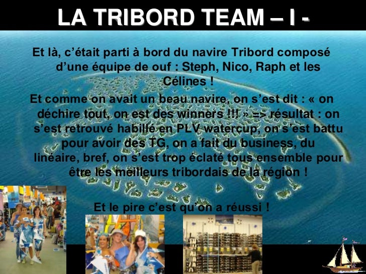 LA TRIBORD TEAM – I -<br />Et là, c'était parti à bord du navire Tribord composé d'une équipe de ouf: Steph, Nico, Raph e...