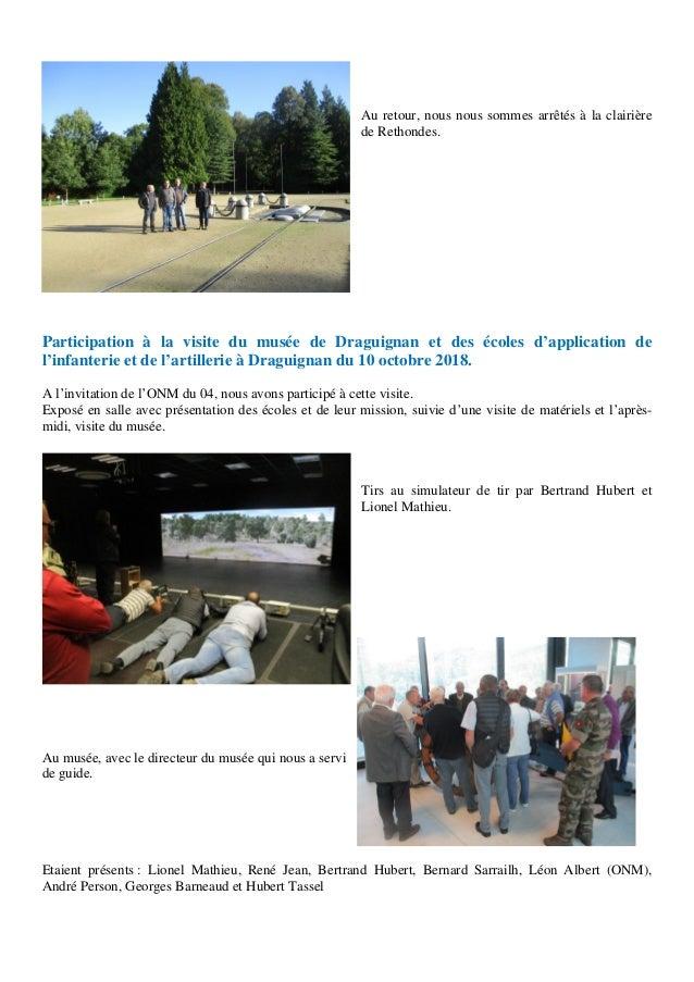 Au retour, nous nous sommes arrêtés à la clairière de Rethondes. Participation à la visite du musée de Draguignan et des é...