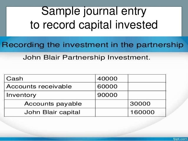 Quiz & Worksheet - Partnership Investments Accounting ...  |Accounting Journal Entries For Partnerships