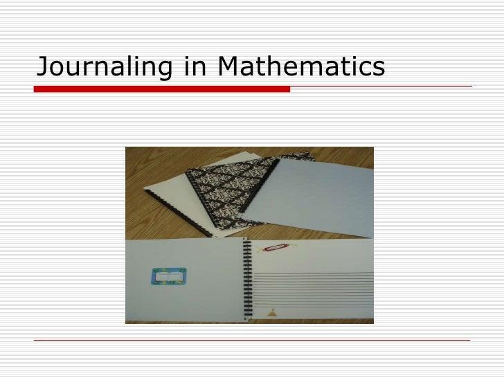 Journaling in Mathematics