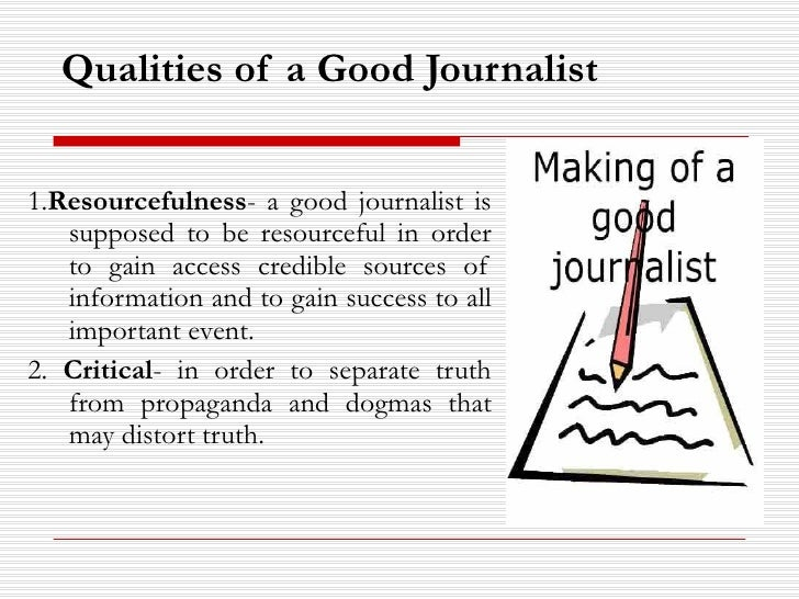 how to be good reporter