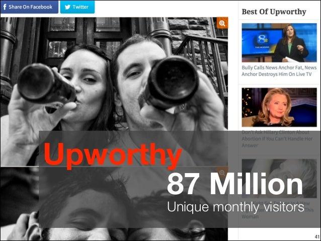Upworthy 87 Million  Unique monthly visitors !41