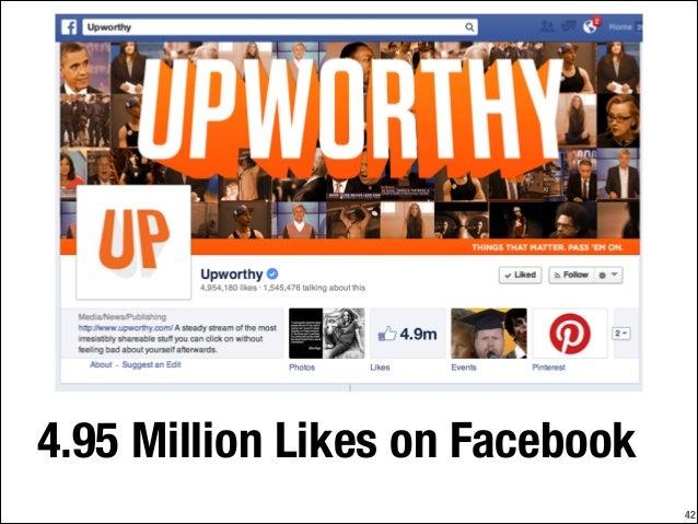 4.95 Million Likes on Facebook !42