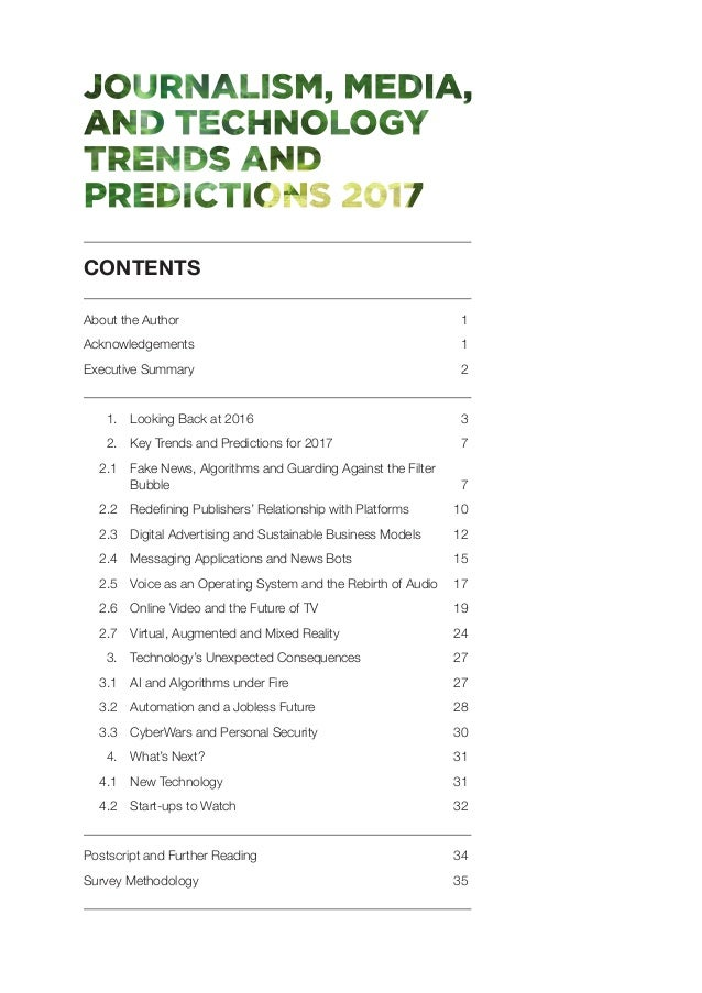Journalism, media and technology trends and predictions 2017