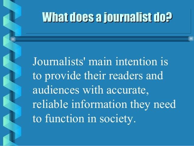 What does a Journalist do? ‐ CareerExplorer